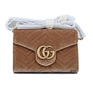 6412a1396 Gucci GG Marmont 2.0 Matelassé Velvet Mini Bag